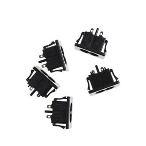 5Pcs-AC250V-2-5A-IEC320-C8-Male-2-Pins-Power-Inlet-Socket-Panel-Embedded-HT