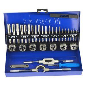 Metric-Tap-amp-Die-Set-M3-M12-1st-2nd-amp-Plug-Finishing-32pc-US-Pro-AT607