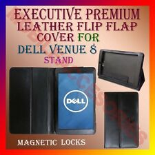 ACM-EXECUTIVE LEATHER FLIP FLAP CASE for DELL VENUE 8 TABLET COVER HOLDER STAND