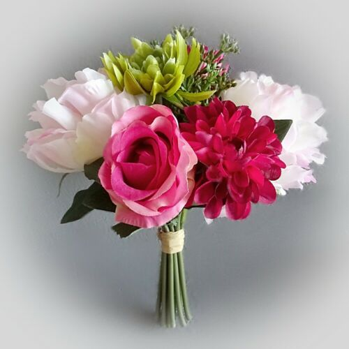 ROSE Dalia struzzo 24 cm Rosa-Fiori artificiali ARTE FIORI PRIMAVERA STRUZZO