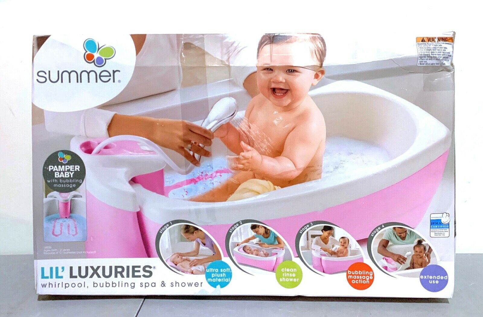 Summer Infant Lil Luxuries Bath Tub Whirlpool Bubbling Spa Shower Green For Sale Online Ebay