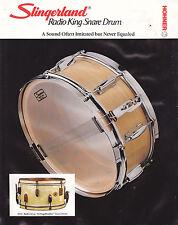 #MISC-0515 - VINTAGE SLINGERLAND RADIO KING SNARE DRUM ad sheet ( style 1 )