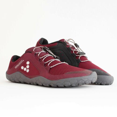 NEW Vivobarefoot Primus Trail FG Mens Red Black Barefoot Walking Running Shoes