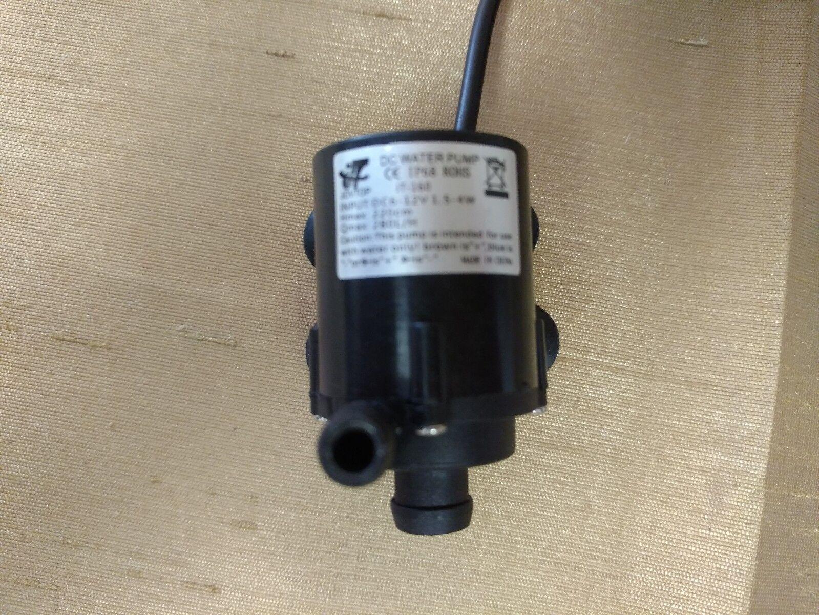 6V TO 12V SUBMERSIBLE DC WATER FOUNTAIN PUMP 40GPH @ 12VDC W FEMALE BARREL PLUG