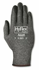Ansell 11-801 HyFlex Nylon Gloves,Black Foam Nitrile Coating,Size 8 (Pack of 12)