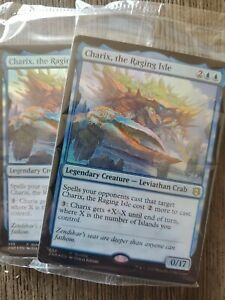 The Raging Isle ZNR Foil Alternate Art Charix In Packaging with Land