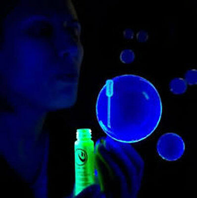 1oz Bottle BLUE Blacklight Reactive Tekno Bubbles