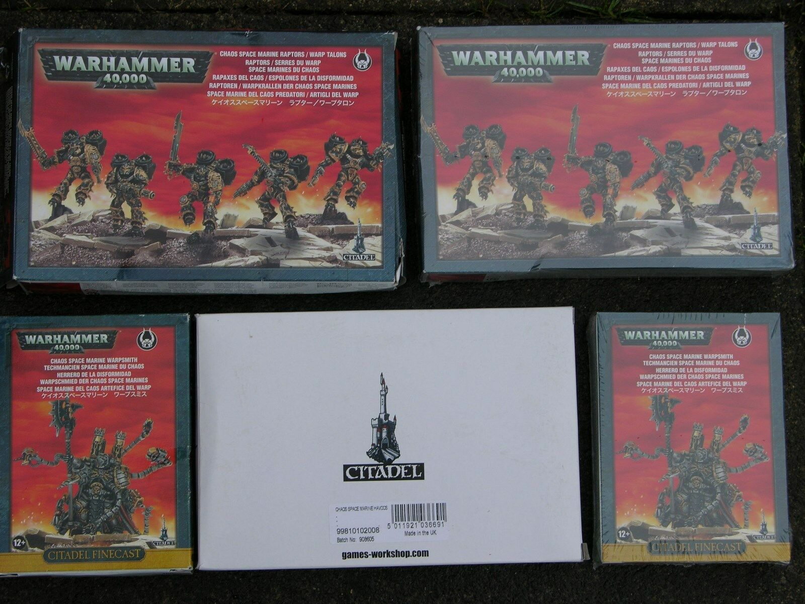 WH40K CHAOS SPACE MARINE BOX SETS, MULTI-LISTING