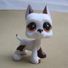 Littlest Pet Shop Bulldog #U603 LPS Figure Toy  Gift  Yellow comma Eyes white