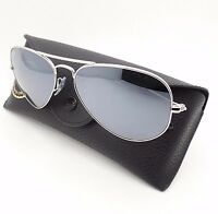 Ray Ban Rb 3025 W3275 55mm Silver Mirror Authentic Sunglasses