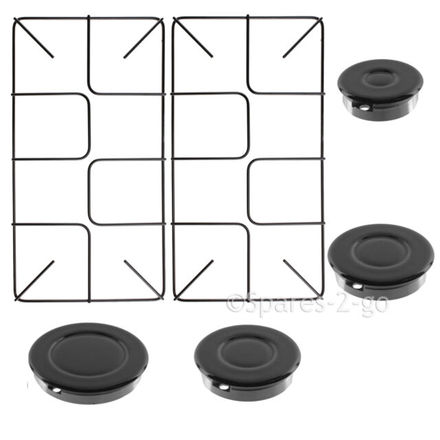 Pack of 2, 455mm x 220mm, Small SPARES2GO Flat Gas Hob Pan Support Stand for AEG Oven Cookers