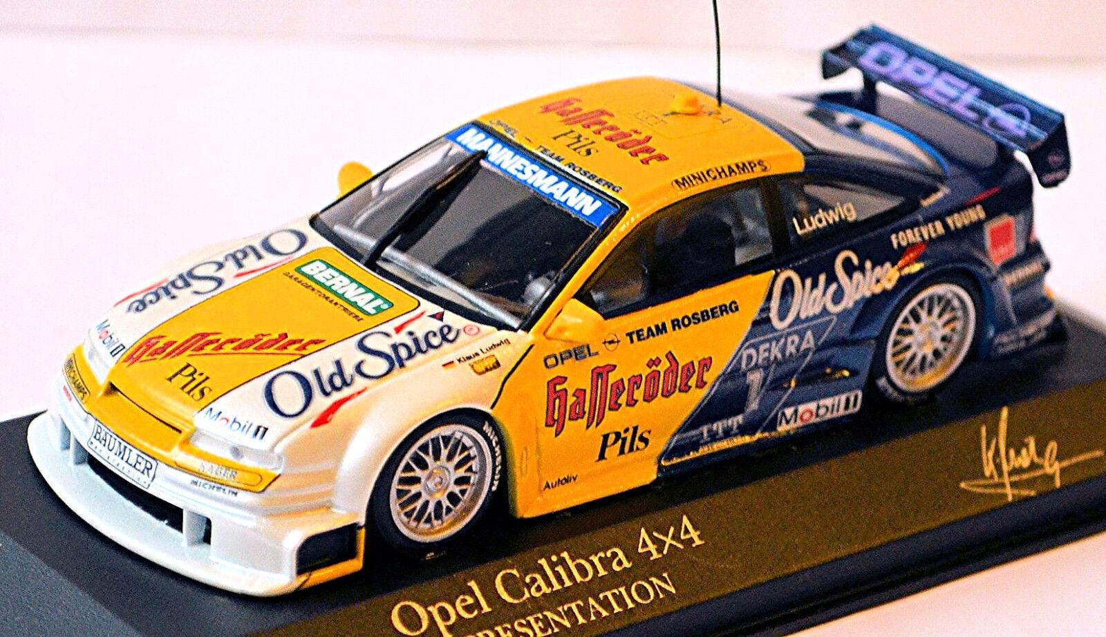 Opel Calibra V6 4x4 DTM 1995 K. Ludwig  1 Hasseröder Vieux Spice 1 43 Minichamps