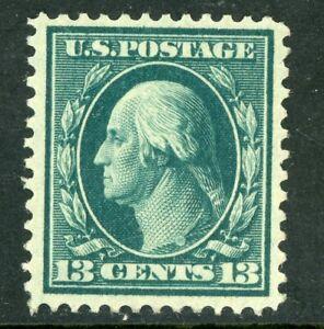 USA 1909 Washington 13¢ Blue Green Perf 12 DL Wmk Sc 339 Mint U452