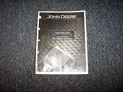 John Deere 4210 4310 4410 Compact Tractor Tech Service Repair Manual TM1985 CD