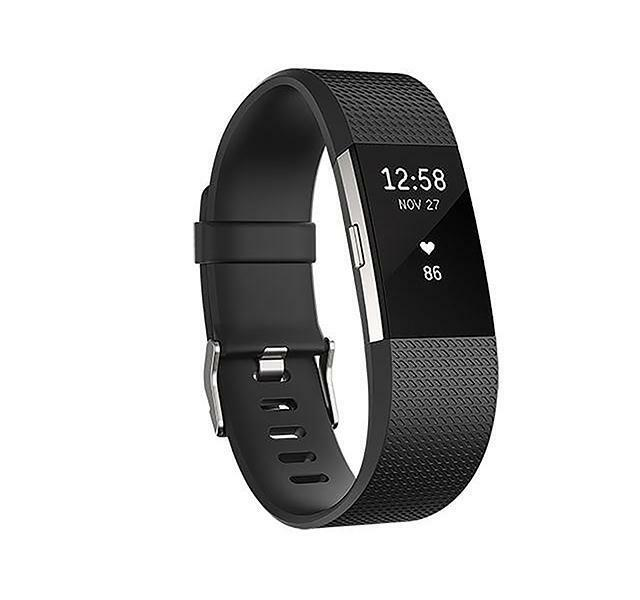 Fitbit Charge 2 Wireless Heart Rate  Activity Tracker - Large - Black