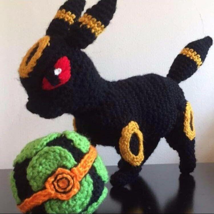 Handgefertigte Crochet Pokemon Plush- Umbreon