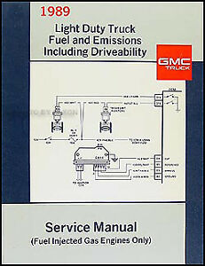 1989 gmc fuel and emissions shop manual 89 sierra s15 van suburban rh ebay com 1988 GMC Sierra 1988 GMC Sierra
