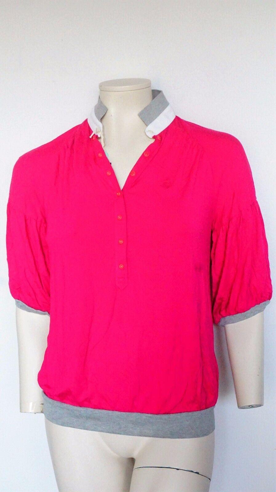 Fay by TOD 'S camicia da donna, rosa viscosa-miscela FAY Camicia da Donna Polo Taglia; L