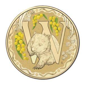 Australia-2016-Fair-Dinkum-Alphabet-Letter-039-W-039-Wombat-1-Dollar-UNC-Coin-Carded