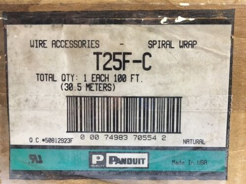 "POLY 1//4/"" X 100 FEET 6.3MM LOT//3* NEW* PANDUIT SPIRAL WRAP T25F-C"