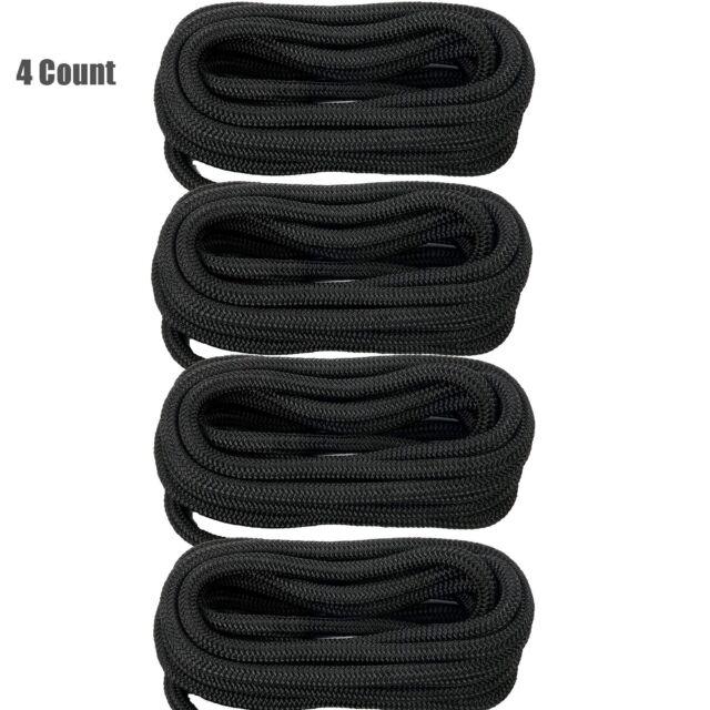 5//8 x 10 Black Solid Braid Nylon Dock Line Made in USA