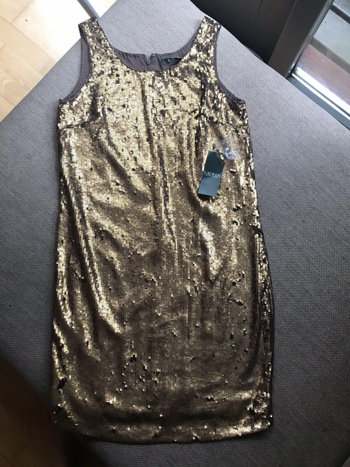 Ralph Lauren ny Copper Sequin Klänning RRP