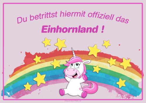 Stallschild Boxenschild Stalltafel Tierschild Schild Pferd       #Einhornland 2