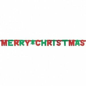 image is loading red amp green merry christmas letter banner decoration - Christmas Letter Decorations