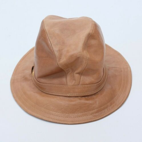 Vintage 70s GUCCI fedora hat gold horsebit hat bro