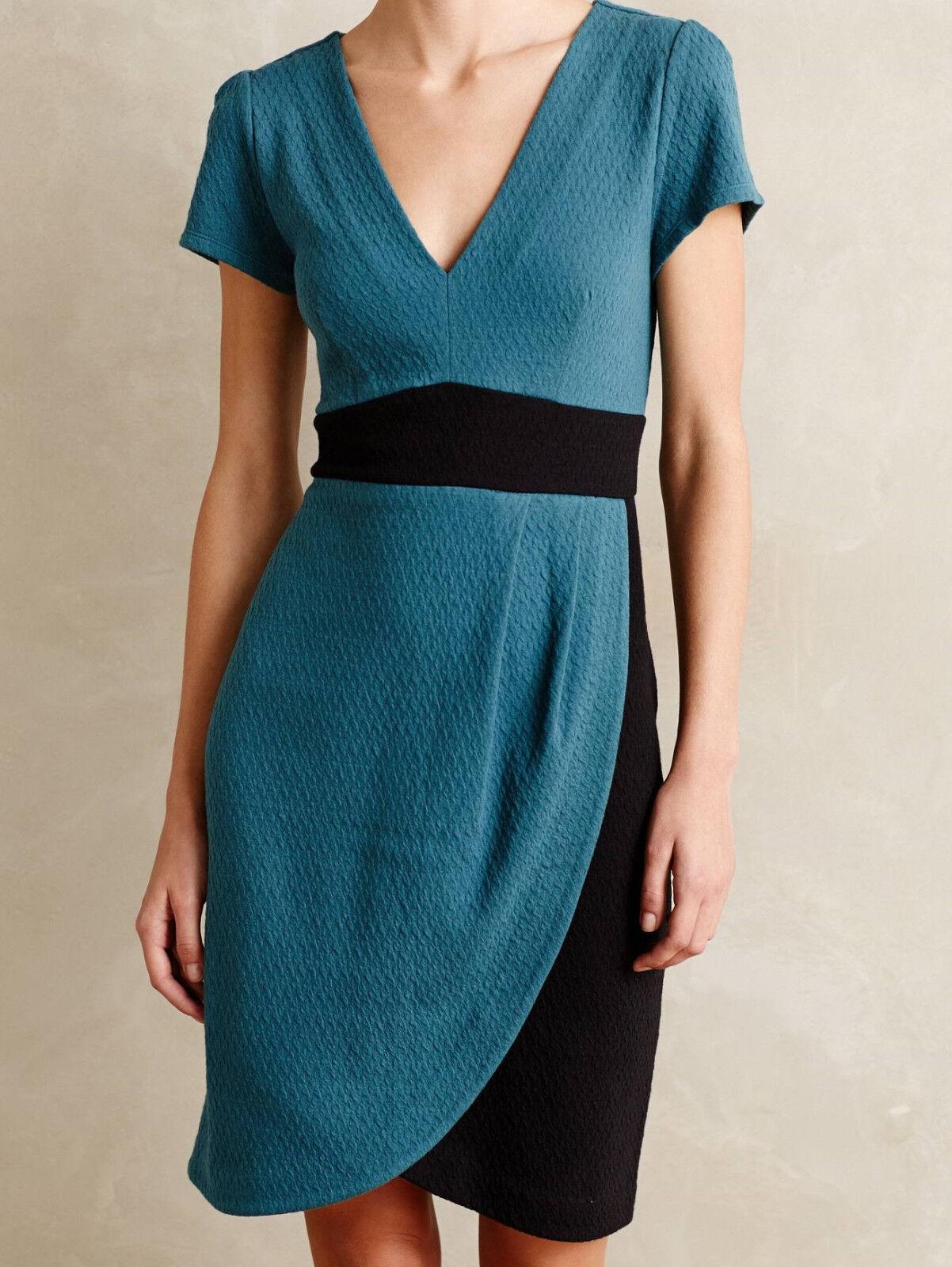 Maeve Splitshade Tulip Hem Dress Size XS, M, L, XL Turquoise NW ANTHROPOLOGIE Ta
