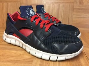 ba9012f82cfef Worn🔥 Nike Air Huarache Free Run Sz 11 Obsidian Red Action Red Pink ...