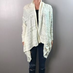 Exhilaration-open-front-knit-cardigan-xl-cream