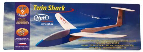 TWIN SHARK Model Sailplane plywood and balsa chuck glider