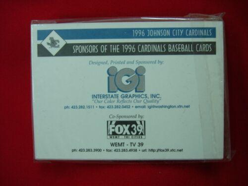 1996 JOHNSON CITY CARDINALS MINOR LEAGUE TEAM SET ~FACTORY SEALED~ ~VERY NICE~