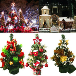 Image Is Loading Mini Christmas Tree Decoration Ornaments Xmas Holiday Party