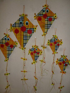 6 er set deko drachen herbstdekoration deko h nger herbst halloween t rdeko ebay - Halloween turdeko ...