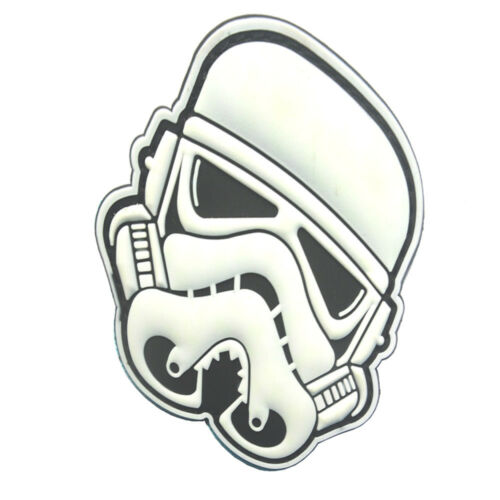 STAR WARS IMPERIAL STORMTROOPER IMPERIAL ARMY 3D PVC RUBBER HOOK LOOP PATCH *01