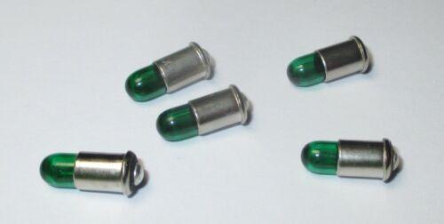"""5 Stück   /""""NEU/"""" Ersatzlampen MS4 grün Märklin 600020 19V"""