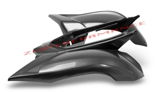NEW YAMAHA RAPTOR 700 06-18 BLACK CARBON FIBER PLASTIC REAR FENDER PLASTICS