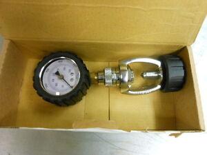 Sea Elite Aqualung Scuba Cylinder Fill Adapter Gauge 5000 PSI NEW