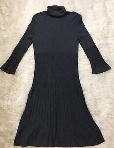 Madison-Gray-Long-Sleeve-Cotton-Rayon-Dress-Size-PM