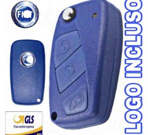 CHIAVE-GUSCIO-SCOCCA-TELECOMANDO-PER-FIAT-3T-LOGO-PUNTO-STILO-PANDA-BRAVO