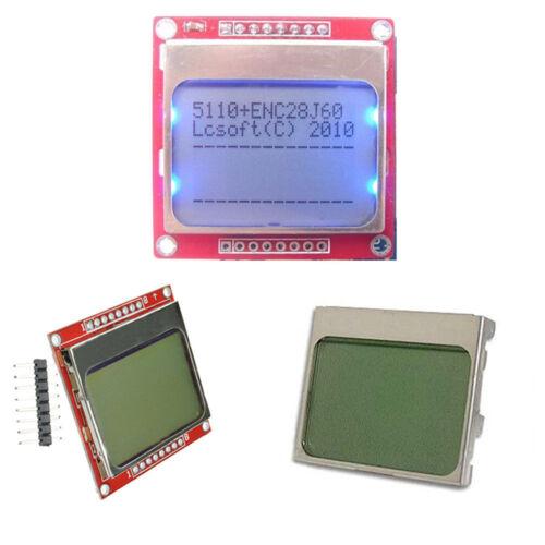 48 Nokia 5110 LCD White//Blue Display Screen Module Module  DIY For Arduino 84