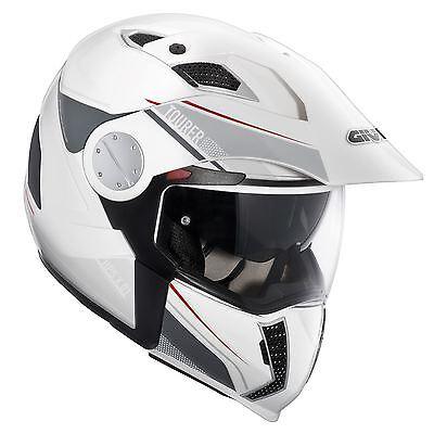 Givi X01 Tourer Full Face Modular Motorcycle Crash Helmet White Small