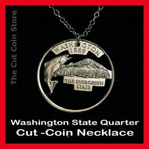 Coin-Necklace-Cut-Out-Washington-Quarter-25-WA-Evergreen-State-Mount-Rainier
