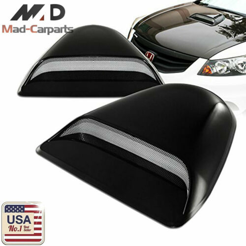 MAD Universal JDM Style Decorative Hood Scoop Smoke Black Air Flow Intake Cover