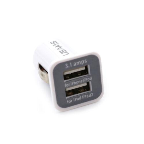 Dual 2 puertos USB 3.1 A Mini Adaptador de cargador de coche para teléfono móvil suministros Jp