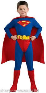 Jungen Offiziell Lizenziert Superman Helden-buch Tag Kostüm Verkleiden Outfit