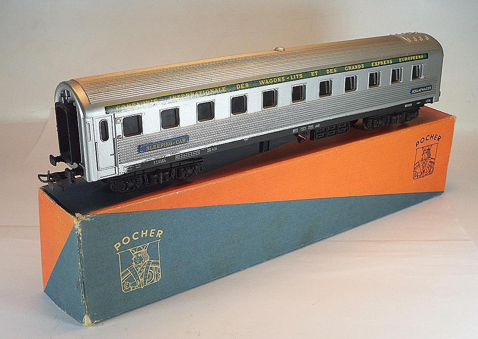 POCHER h0 D treno vagoni VAGONE LETTO-Sleeping car in O-Box #7294
