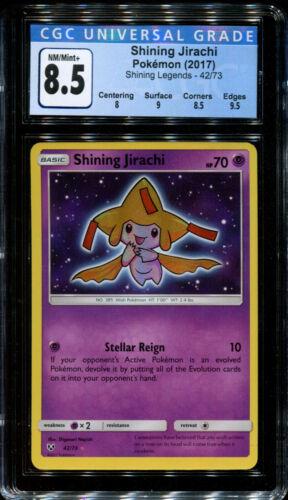 CGC 8.5 NM//Mint+ PSA Shining Legends 42//73 Shining Jirachi